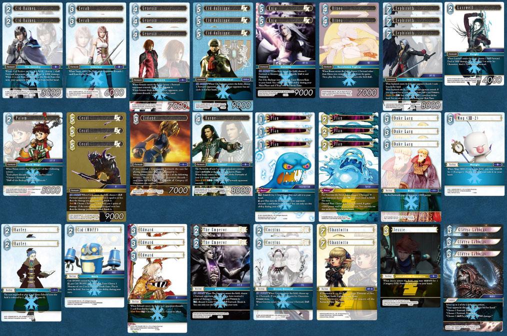 Dieses Deck habe ich gespielt: Eis / Erde mit Puddings und Sephiroth