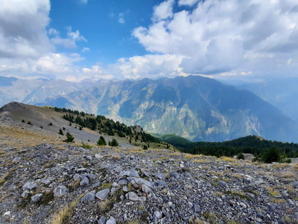 Vue depuis la crête du Mont Gravières