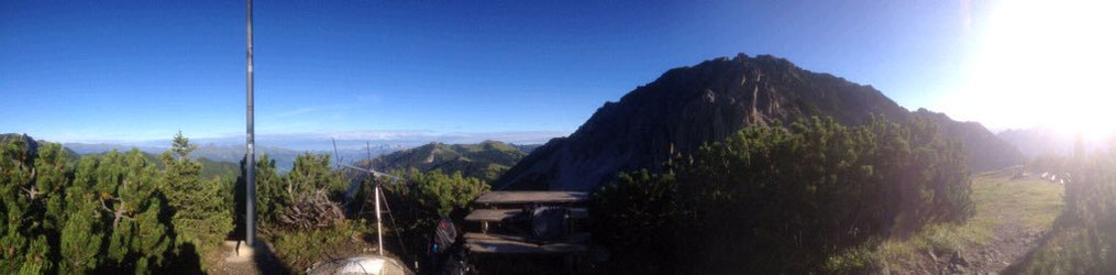On the top of the Sareiserjoch