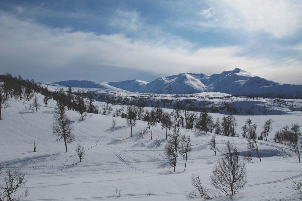 bigousteppes norvège glace paysage neige route