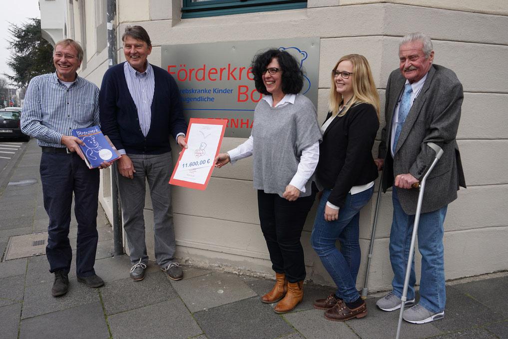 von links: Reiner Fritz, Lutz Hennemann, Renate Pfeifer, Kim Messinger, Hermann Messinger