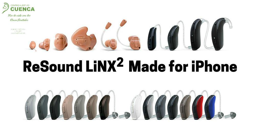 En todos estos formatos y colores, ReSound LiNX2. Centro Auditivo Cuenca, en Valencia.
