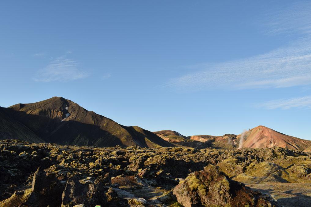 Obsidian- Bláhnúkur, Brennisteinsalda, lava field, Landmannalaugar