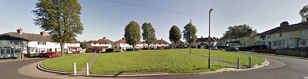 The Haven, Yardley Wood municipal  housing built in the 1920s - image from Google Maps Streetview 2019