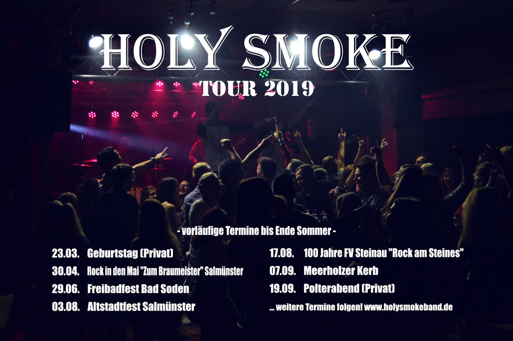 Holy Smoke Partyband alle Termine der Tour 2019