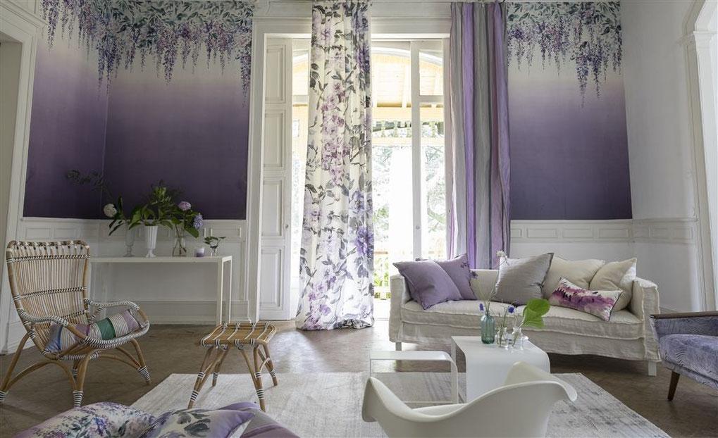 Carta da parati a fiori Summer Palace - Designers Guild