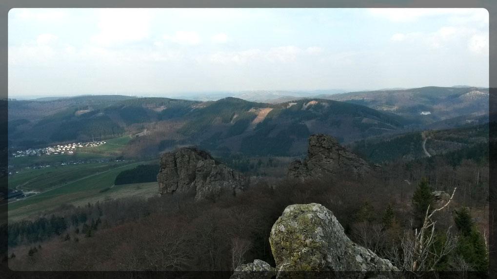 Noch ist Vorfrühling, aber bald ist hier alles grün, wir befinden uns auf 783 Metern über NN