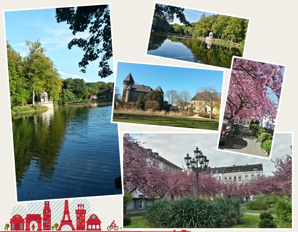 Herzlich willkommen in Krefeld - kleine Collage zu Beginn
