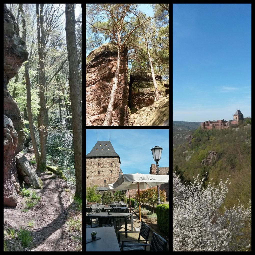 Wanderimpressionen und Biergarten auf Burg Nideggen