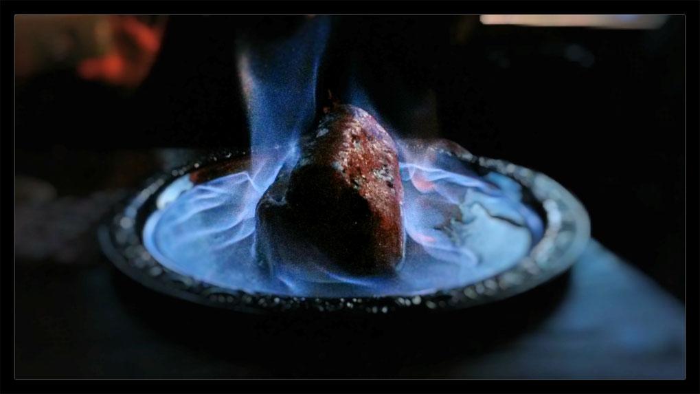 Der Stollen aus dem Stollen: Flambierter Stollen aus der Grube Christine, ein kulinarisches Highlight