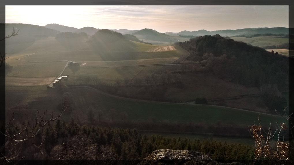 Caller Schweiz vom Hunstein aus gesehen im Februar 2019