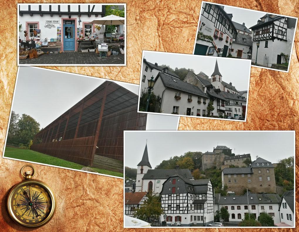 Kleine Collage von Blankenheim bei Eifelwetter