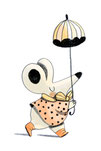 illustration de violaine costa illustratrice d'une souris pour les éditions Mame