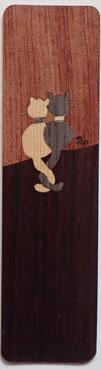 Marque-Page Chats sur palissade - 15x4cm - Atelier Eclats de bois38