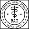 Gelistet bei der Bundesarbeitsgemeinschaft Osteopathie eV, (BAO)