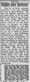 Göttinger Zeitung, 01.01.1919: Aufruf zu einer neuen politischen Kultur. StA Göttingen