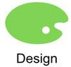 Grafik mit Farbpalette zum Thema der Unterseite Design und Grafik.