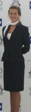 Uniforme de azafata azul marino
