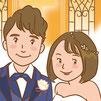 ブライダル 結婚 結婚式 記念 イラスト