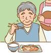 介護 福祉 介護食 イラスト 老人 高齢者 食事