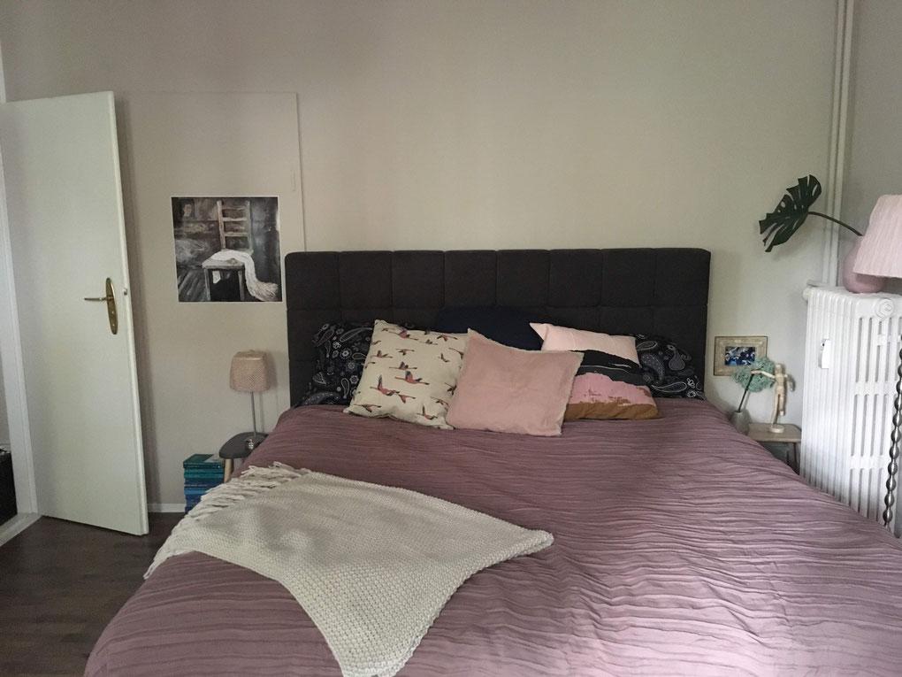 berlin blog vintage schlafzimmer mauve bücher
