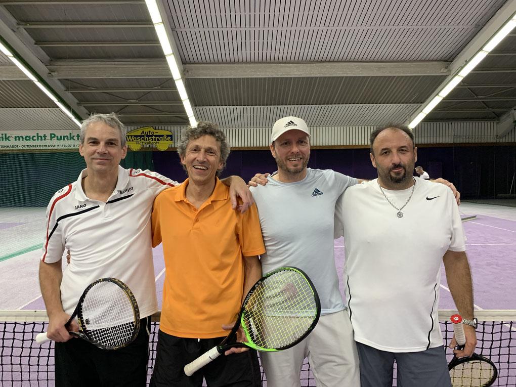 Die erfolgreichen Herren von links: Edgar Wenzelburger, Jürgen Alber, Alexander Acksel und Dragan Repajic.