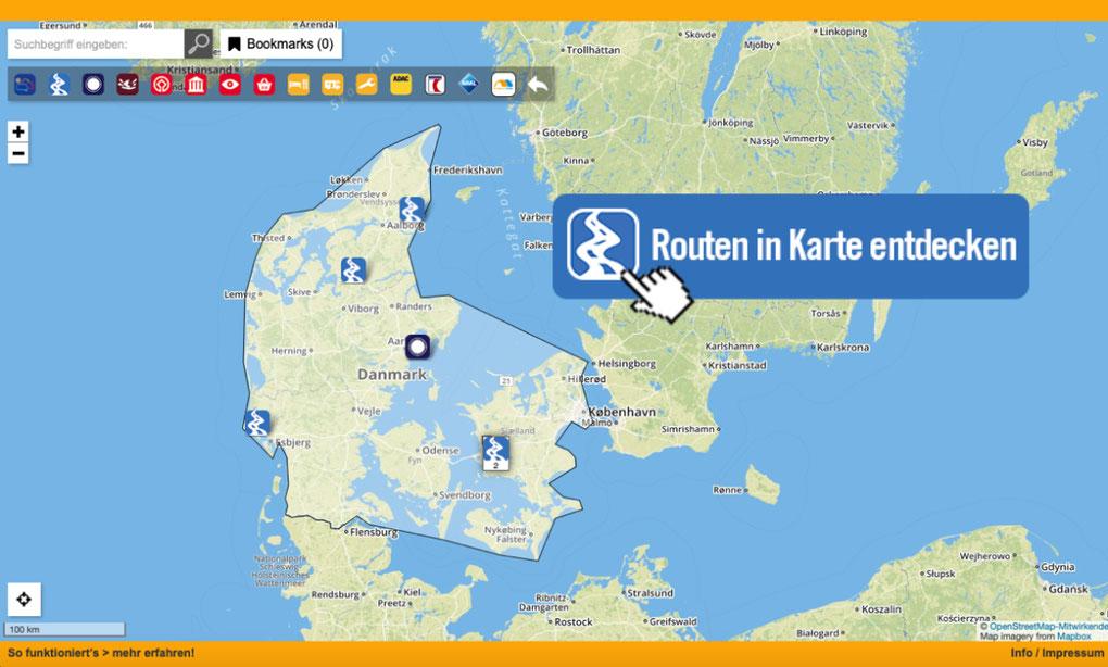 Das Campingparadies Dänemark in Karte entdecken!