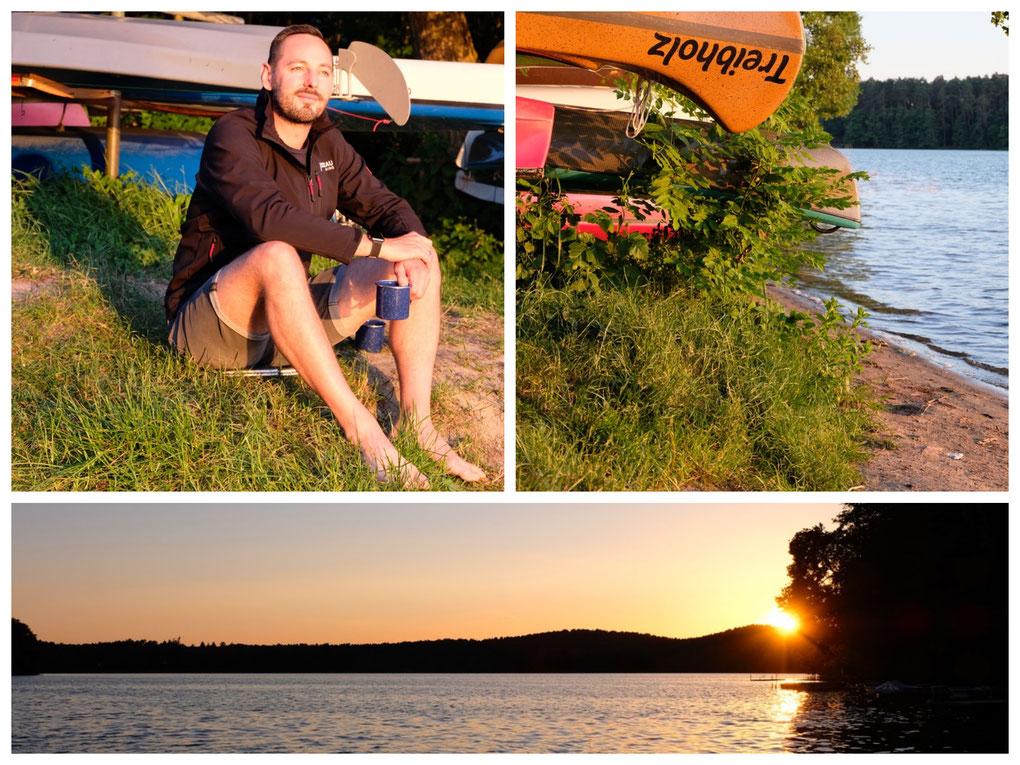 Lychen bedankt sich mit einem traumhaften Sonnenuntergang am See