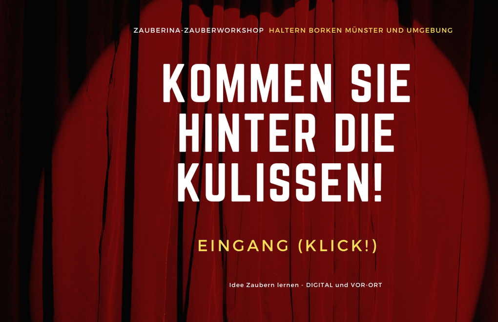 Idee Zaubern lernen Haltern Borken Münster Zauberkurs