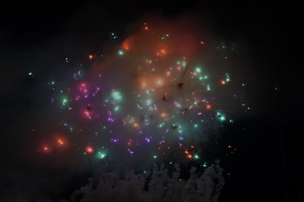 外苑の花火