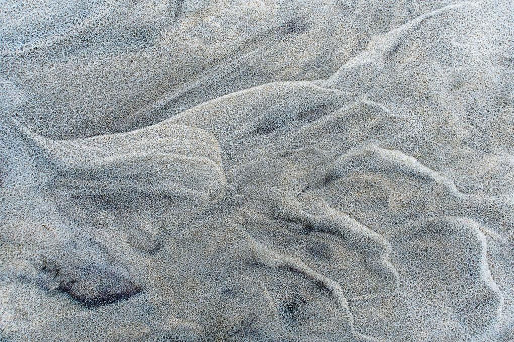 Structuren in het zand op het Noordzeestrand van Terschelling