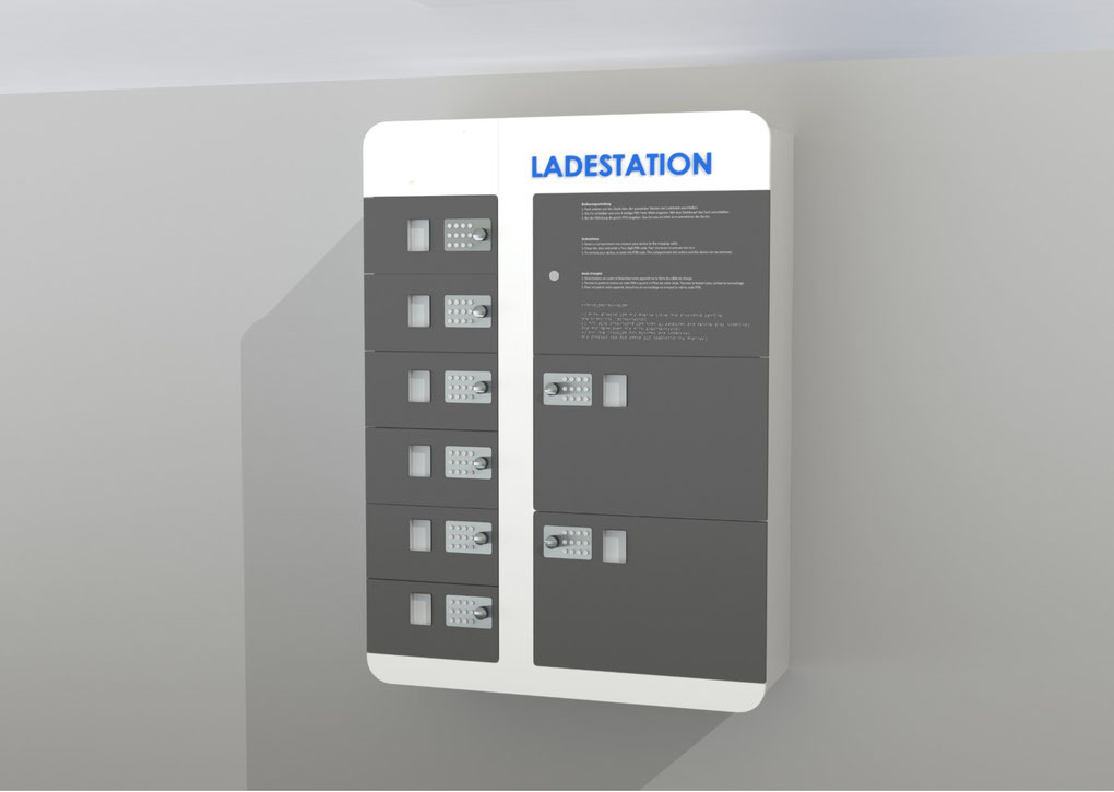 Handy Tablett Ladestation Monitorwerbung - Monitorwerbung Ladestation