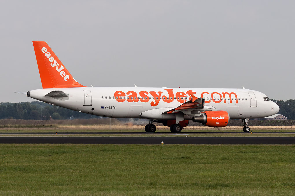 Airbus A320 easyJet G-EZTC, picture by The Aviation