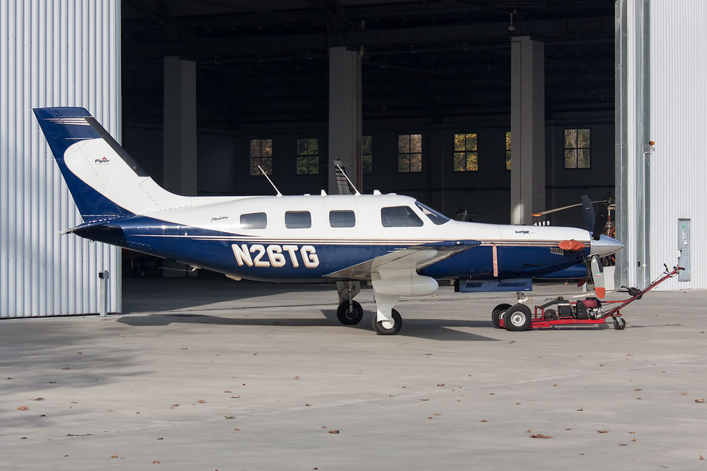 Piper PA46 Malibu uscito di pista a LInate, picture by The Aviation