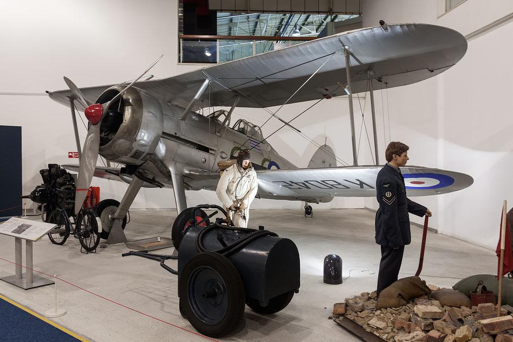 Gloster Gladiator nel museo di Hendon