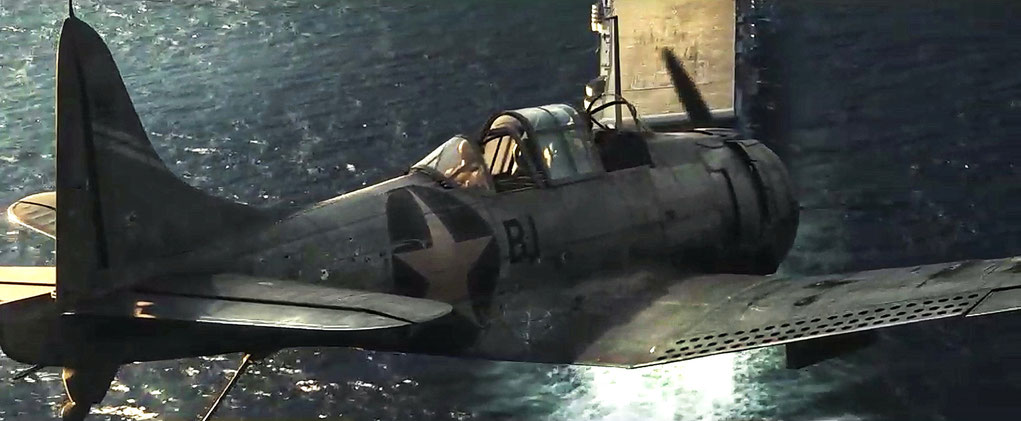 """SBD Dauntless SBD /3/A  snapshot from """"Midway"""" movie (2019) by Roland Emmerich"""
