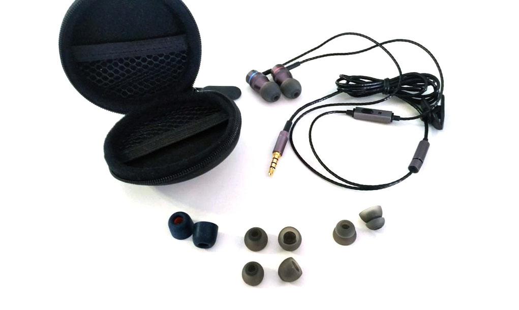 Erdre Audio : écouteurs intra-auriculaires à double haut-parleur D201G - credit photo Le Café du Geek