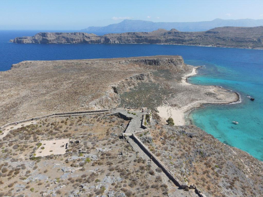 Griechenland, Kreta, Sehenswürdigkeit, Reisebericht, highlight, Urlaub, Kissamos, Burg, Festung, Gramvousa, Lagune