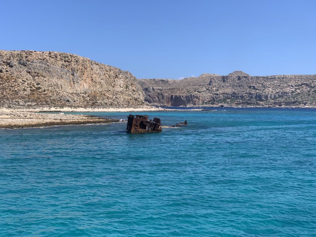 Griechenland, Kreta, Sehenswürdigkeit, Reisebericht, highlight, Urlaub, Kissamos, Burg, Festung, Gramvousa, Lagune, Wrack, Schiffswrack