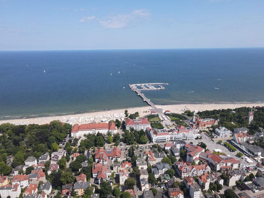 Sopot, Seebrücke, Molo, Grand Hotel, Kurhotel