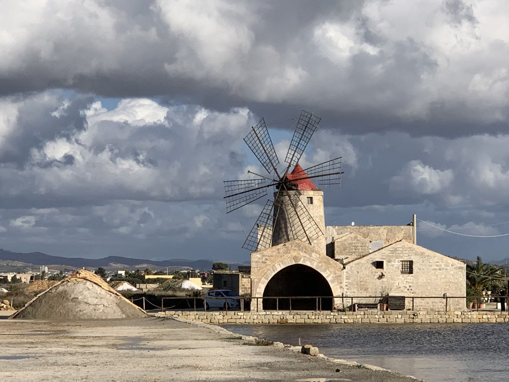 Italien, Sizilien, Sehenswürdigkeit, Marsala, Trapani, Salinen, Saline di Trapani, Salzgewinnung, Salz, Museum, Windmühle