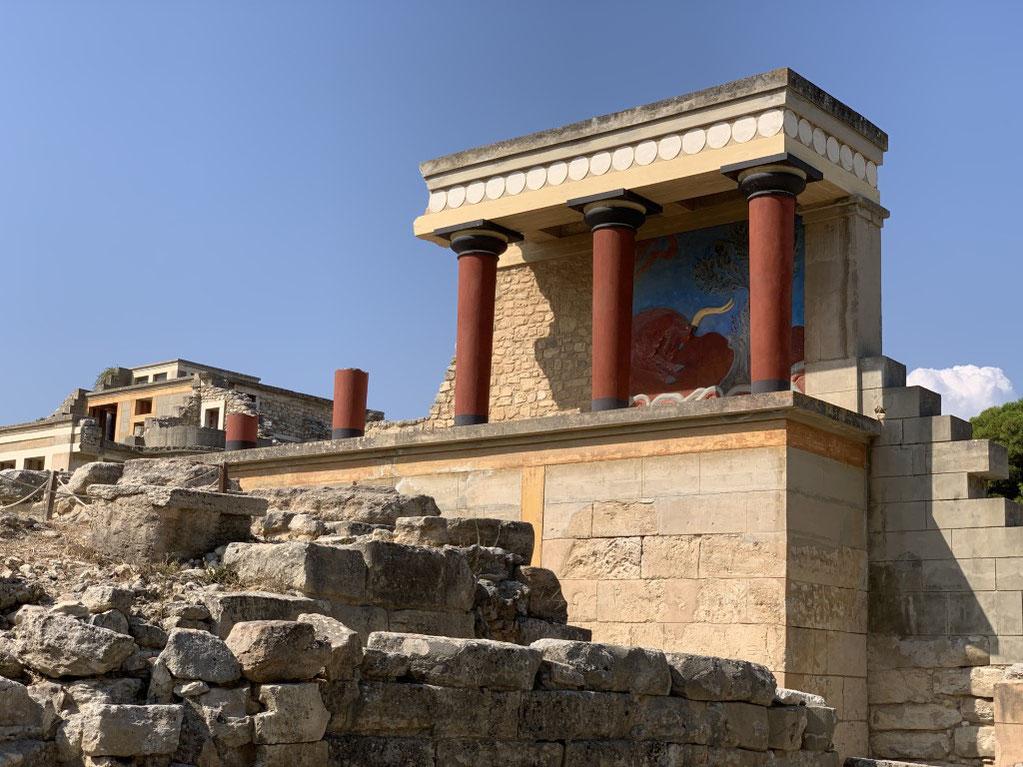 Griechenland, Kreta, Sehenswürdigkeit, Reisebericht, highlight, Urlaub, Heraklion, Knossos, Palast