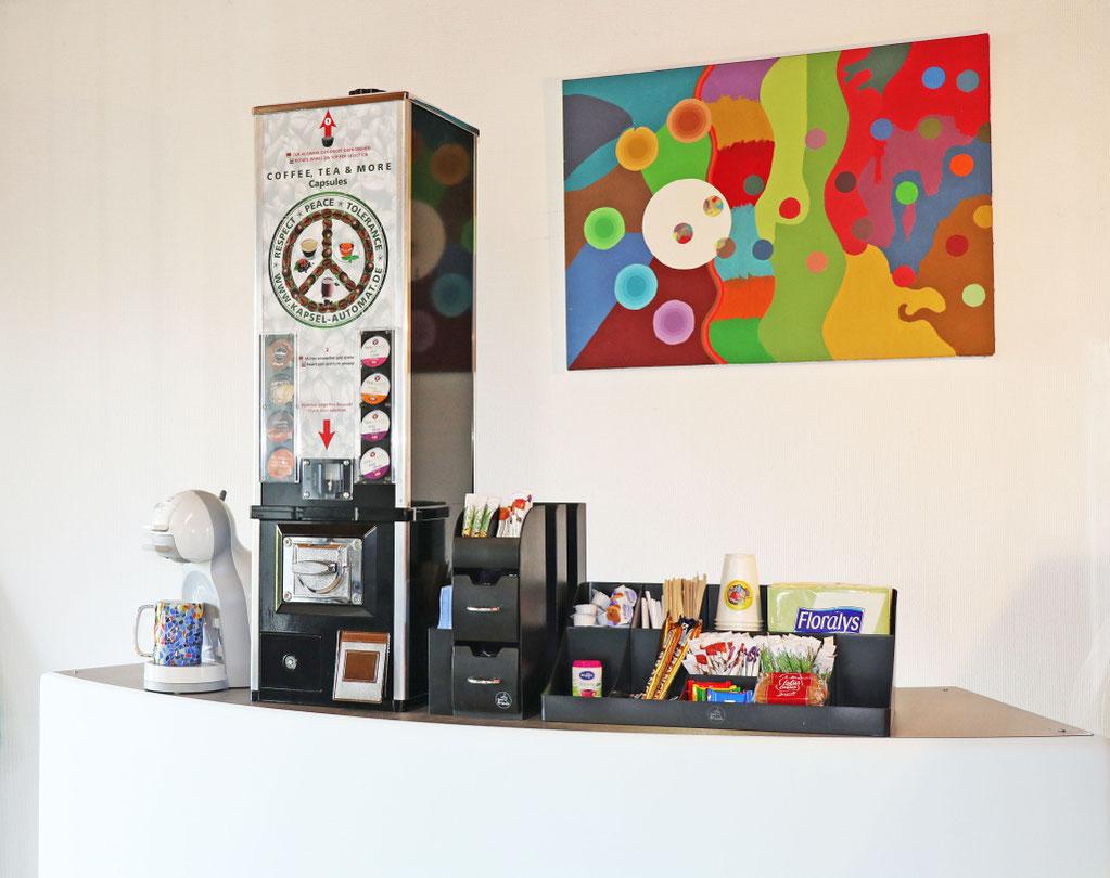 Münzautomat für Kaffeekapseln. Robuster Münzautomat ohne Elektronik.