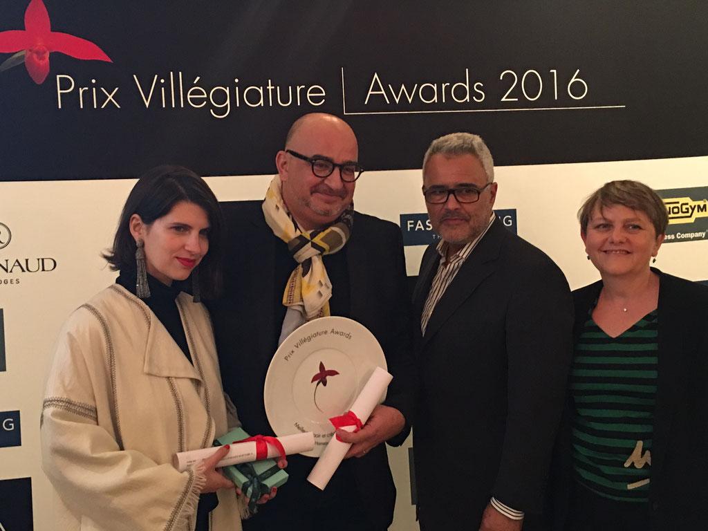L'équipe du Hameau des Baux au Prix Villégiature Awards 2016
