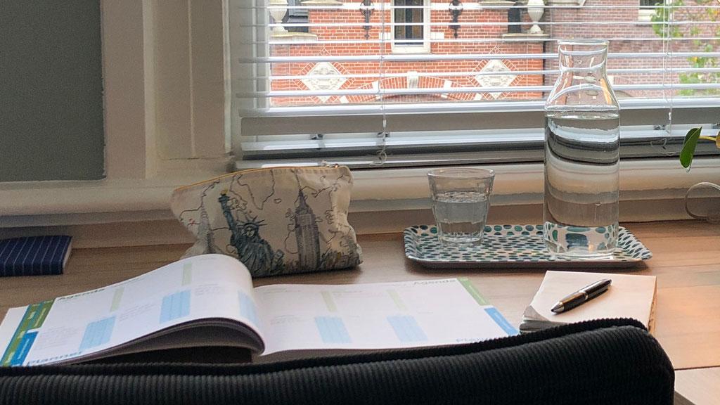 Uitzicht van werkplek Huiswerkbegeleiding in Amsterdam Zuid voor de scholieren