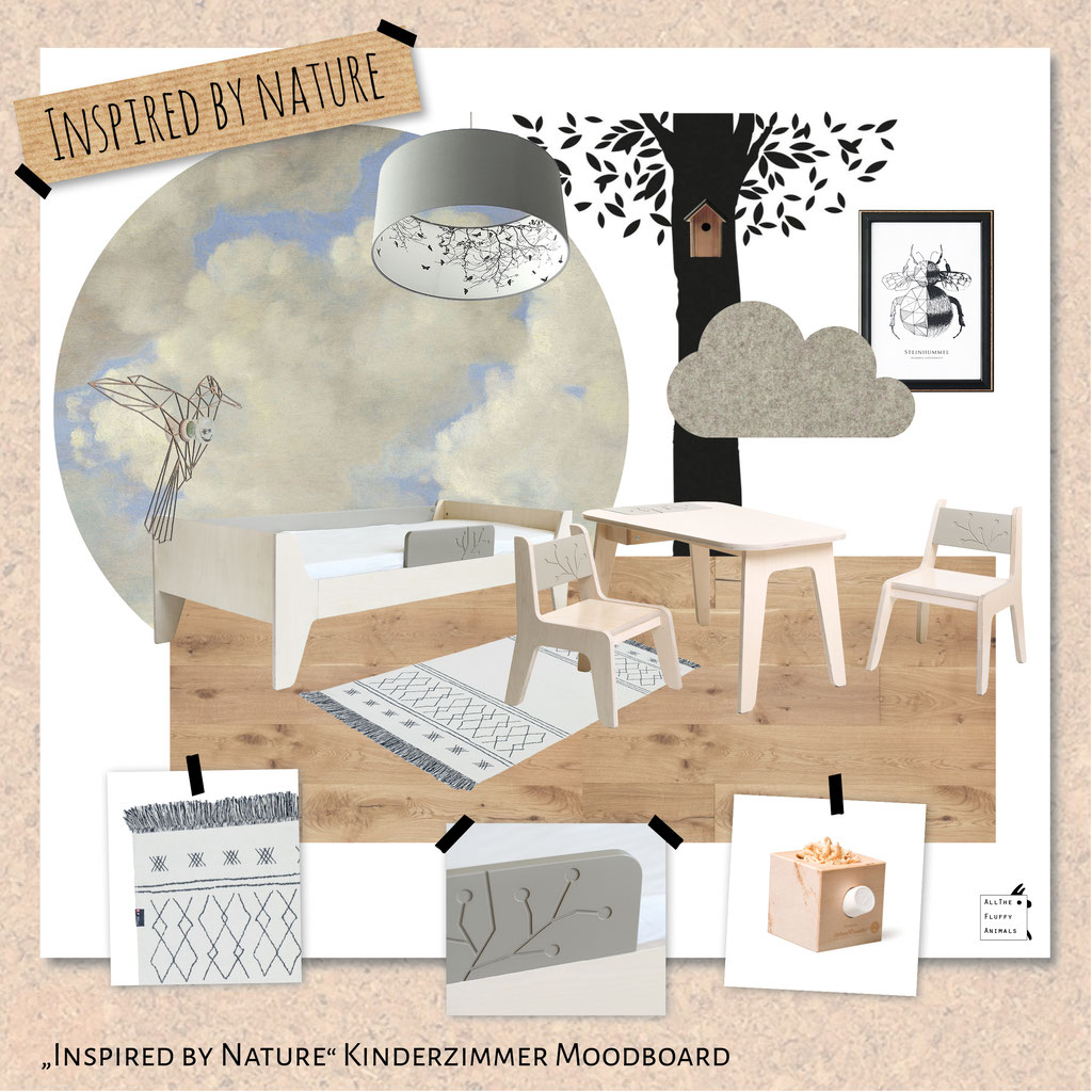 Inspired by Nature - Kinderzimmer Moodboard