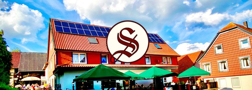 Das Bild zeigt den Landgasthof Sindram in Uehrde, das Ziel unserer Radtour!