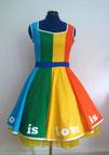 Regenbogen, LGBTQ, Regenbogenflagge, Christopher Street day, Disneybound, Kleid, Dapper day, Disney Prinzessin, Disneyland, Disney World