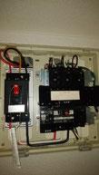 IHクッキングヒーター交換 200V配線、ブレーカー取り付け工事