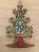 Antiker Weihnachtsbaum Strass aus Gablonz